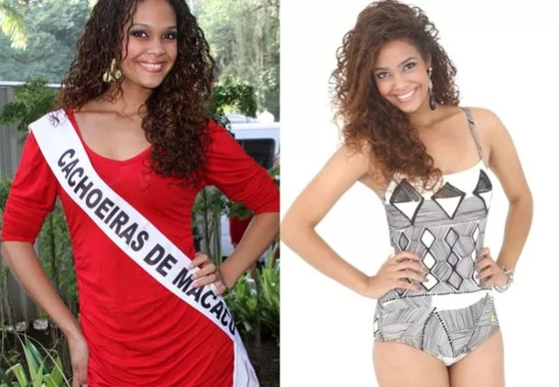 Luiza Lorellay representou Cachoeira de Macacu em 2011 e 2012 no Miss Rio de Janeiro (Foto: Divulgação/Miss RJ e Helmut Hossmann/Divulgação)