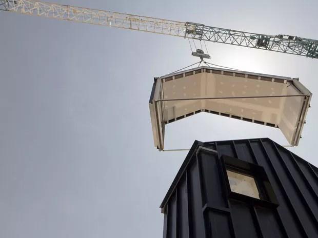 Casa pré-fabricada leva 5 horas para ser erguida (Foto: Divulgação)
