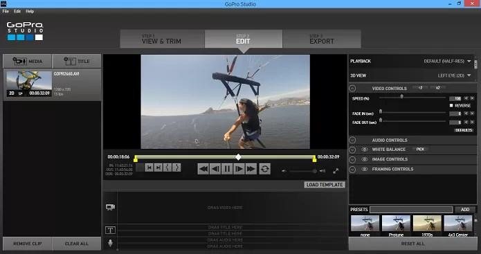 GoPro Studio também tem uma série de opções de edição (Foto: Reprodução/Aline Jesus)