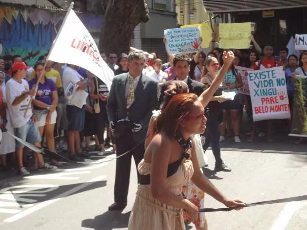 Grito dos excluídos protestou pelas ruas de Belém (Foto: Ingo Muller/ G1)
