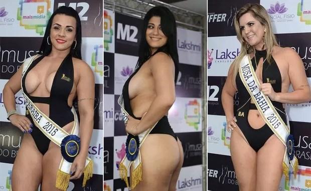 Candidatas Musa do Brasil: Emmanuele Salvador, Paraíba | Feh Bertoluzzi, Acre | Francine Scomação, Bahia (Foto: Divulgação)