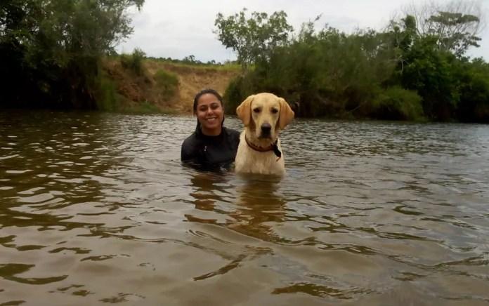 Katrine com Fred no sul da Bahia — Foto: Arquivo Pessoal