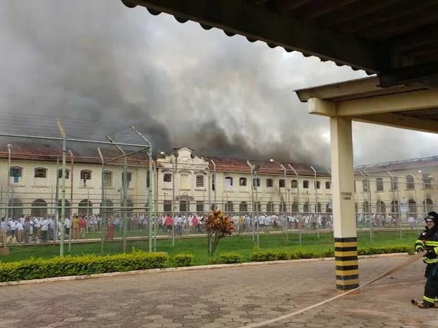 Rebelião no Centro de Progressão Penitenciária de Bauru (Foto: Arquivo Pessoal)