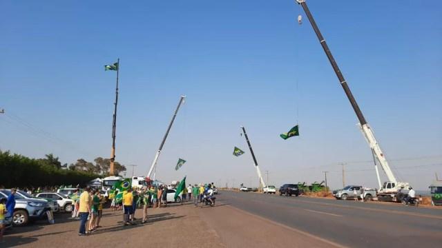 Cinco cidades de MT egistraram bloqueios em rodovias nesta terça-feira, feriado de 7 de Setembro, Dia da Independência. — Foto: Divulgação
