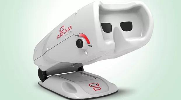 A empresa Prevention de Curitiba criou um equipamento portátil de pré-testes chamado Adam, capaz de medir em cinco minutos a acuidade visual e detectar problemas como miopia, hipermetropia, astigmatismo e daltonismo (Foto: Divulgação)