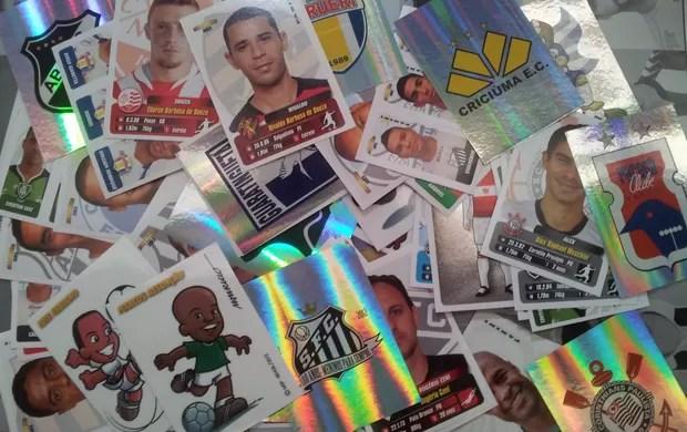 Figurinhas album brasileirão (Foto: Cassio Barco/Globoesporte.com)