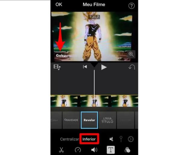 Defina o local do texto na tela (Foto: Reprodução/Lucas Mendes)