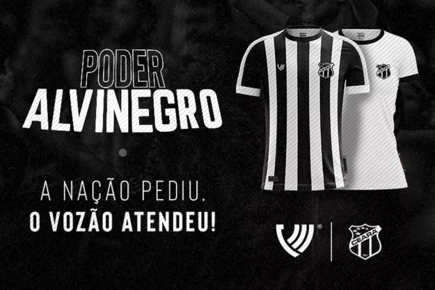 Camisa Poder Alvinegro — Foto: Divulgação/Ceará