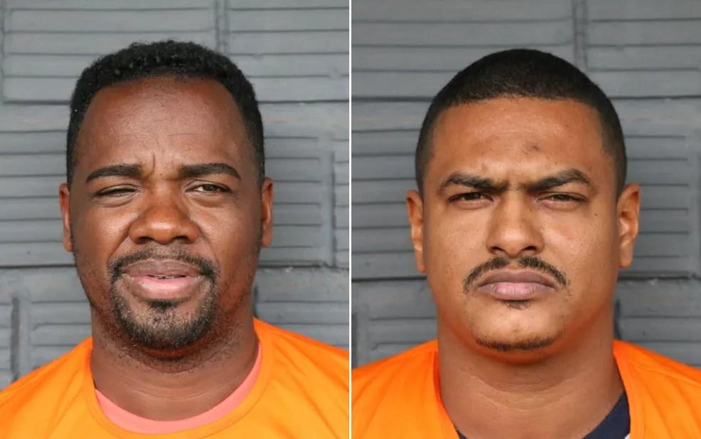 Cléber Santos, à esquerda, e Edson Silva, à direita (Foto: Divulgação/SSP-BA)