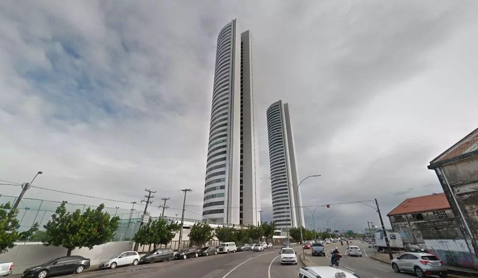 'Torres Gêmeas' ficam no Centro do Recife — Foto: Reprodução/Google Street View