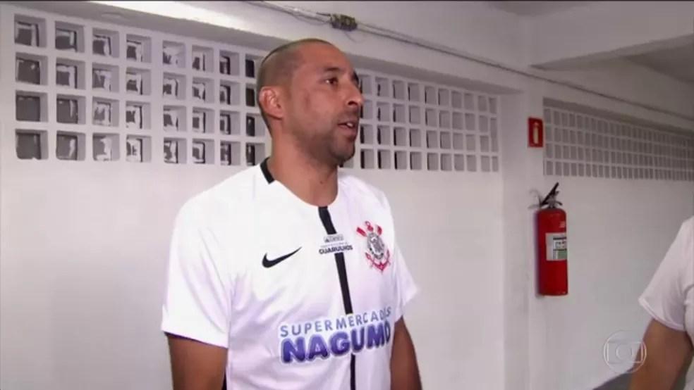 Serginho no ginásio de Guarulhos (Foto: Reprodução TV Globo)