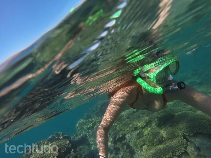 gopro-agua (Foto: Juliana Pixinine/TechTudo)