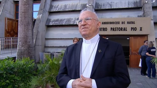Dom Jaime Vieira Rocha, arcebisto de Natal (Foto: Reprodução/Inter TV Cabugi)