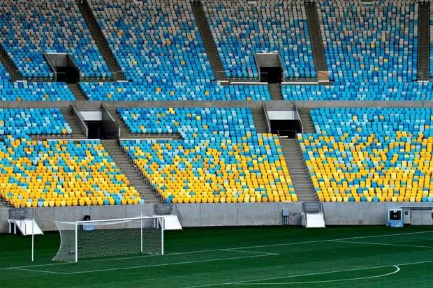 O Maracanã visto por dentro depois da mais recente intervenção (Foto: Glauber Queiroz/ Ministério do Esporte)
