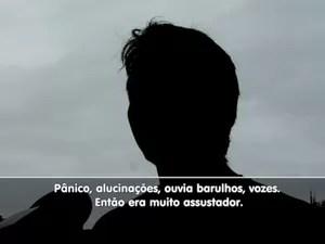Dependente químico em Campinas (Foto: Reprodução/EPTV)