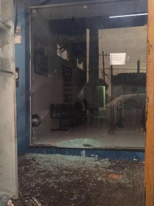 Casa lotérica arrombada em Ceará-Mirim na madrugada desta quinta-feira (7). (Foto: Redes socias )