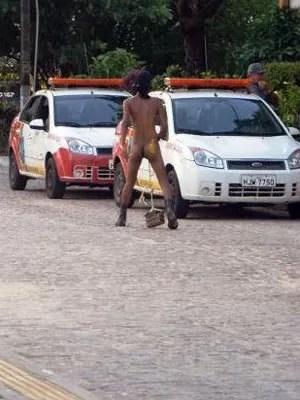 Segurança da Universidade Federal do RN acompanharam manifestação (Foto: Reprodução/Blog Okupa Garden)