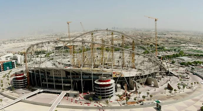 Khalifa International Stadium obras