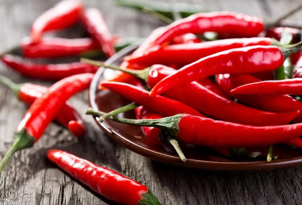 Pimenta é fonte de capsaicina, componente que auxilia em dietas para perda de peso e na conquista de mais saúde e qualidade de vida — Foto: Istock Getty Images