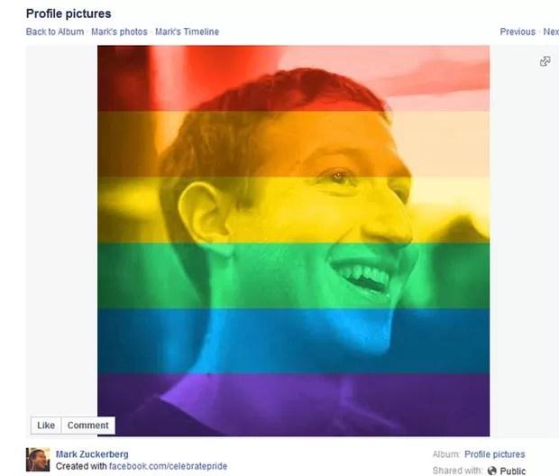 Fundador do Facebook, Mark Zuckerberg, lançou filtro ao trocar sua foto na rede social. (Foto: Divulgação/BBC)