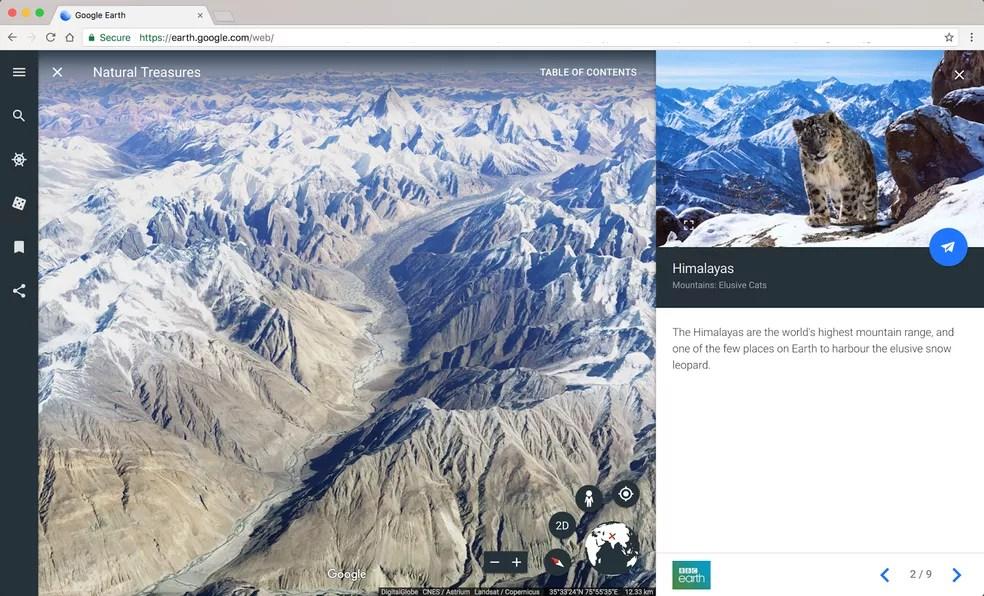 Novo Google Earth permite fazer 'viagens guiadas' (Foto: Divulgação)