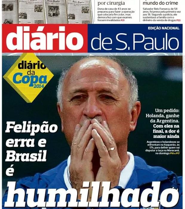Capa Diário de São Paulo - 9 de julho (Foto: reprodução)