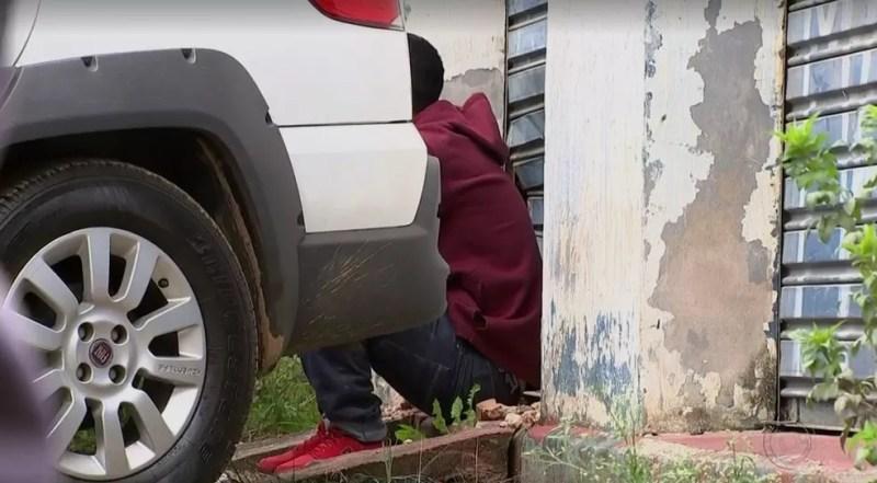 Suspeito de matar Vitória Gabrielly  (Foto: Reprodução/TV TEM)