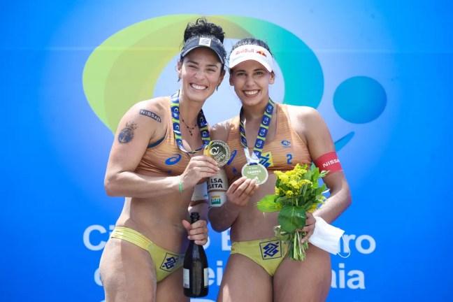 Ágatha e Duda conquistaram quatro etapas na temporada 2020/21 do Circuito Brasileiro — Foto: Divulgação