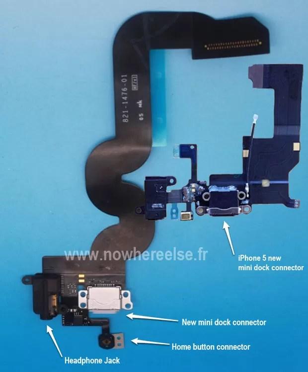 Site mostra supostas imagens de componentes internos de iPhone e iPad mini com entradas 'dock' menores (Foto: Reprodução)