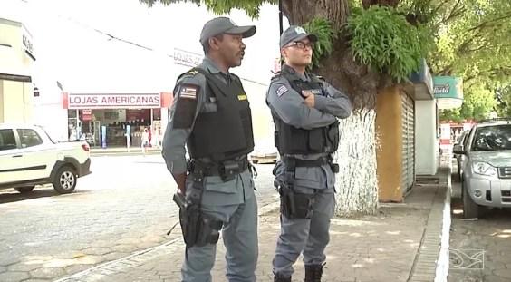 Segurança é reforçada no primeiro turno das eleições no sul do Maranhão — Foto: Reprodução/TV Mirante