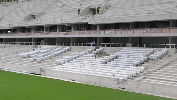 Arena da Baixada Atlético-PR 19 de fevereiro cadeira (Foto: Site oficial do Atlético-PR/Divulgação)