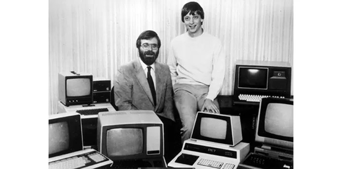 Microsoft tem como co-fundadores Bill Gates (à direita) e Paul Allen (à esquerda) (Foto: Divulgação/Microsoft)