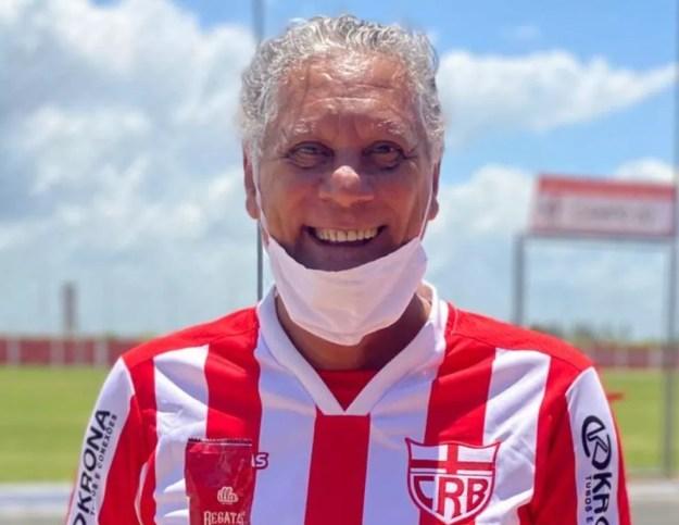 Joãozinho Paulista, ídolo do CRB — Foto: Ascom/CRB