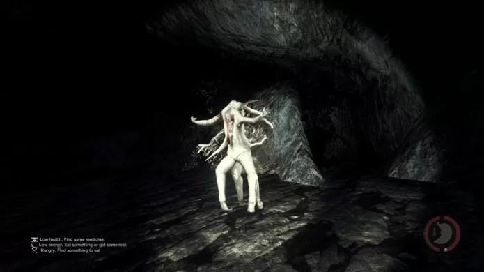 Cavernas são perigosas em The Forest (Foto: Reprodução/Tais Carvalho)