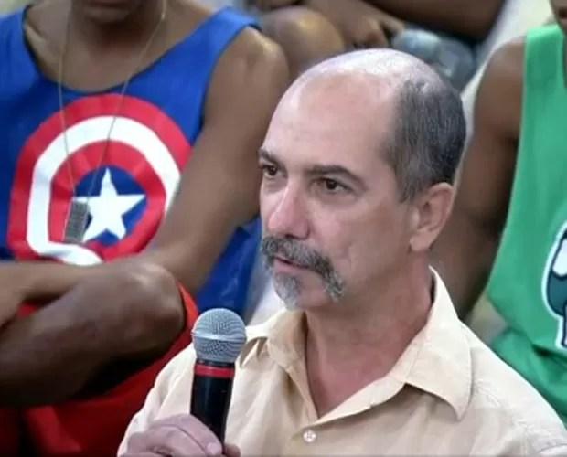Walter mergulhou para salvar mulher que caiu da Ponte Rio-Niterói (Foto: Encontro com Fátima Bernardes / TV Globo)