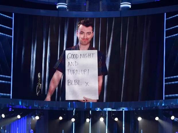 Sam Smith venceu melhor artista masculino no Billboard Music Awards, mas não foi à premiação porque se recupera de uma cirurgia nas cordas vocais (Foto: Chris Pizzello/Invision/AP)