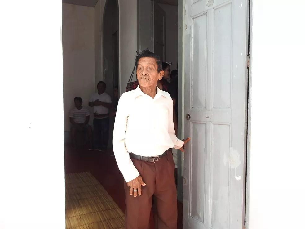 """Indígena Manoel Lima assumir a função de """"Grande Kumu"""", no Amazonas (Foto: Ive Rylo/G1 AM)"""