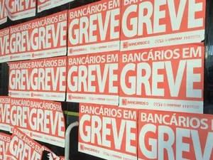 Agência fechada no Setor Bancário Sul, em Brasília; greve terminou nesta quinta (6) (Foto: Mateus Vidigal/G1)