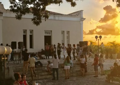 Projeto Pôr do Sol no Hotel Globo acontece no Centro Histórico de João Pessoa (Foto: Gilberto Firmino/Secom-JP/Arquivo)