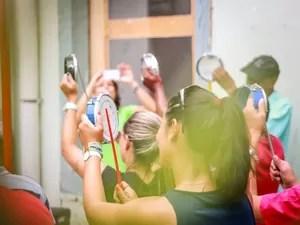 Bloco ensaiou durante quatro meses para desfile no sábado (Foto: Mayara Megiolaro)