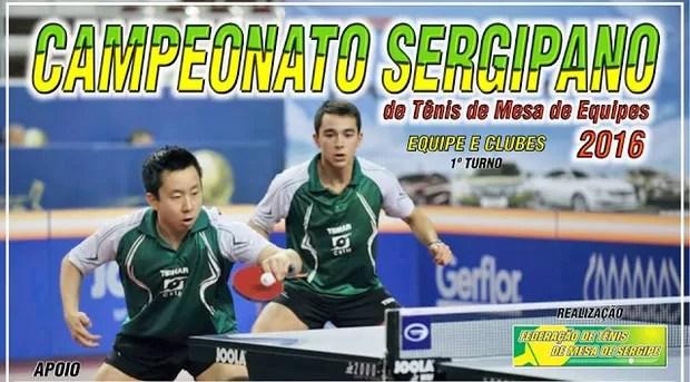 Sergipano de Clubes de tênis de mesa (Foto: Divulgação/FTM-SE)