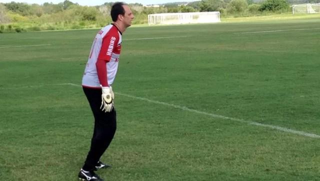 Rogério Ceni São paulo treino (Foto: Fabricio Crepaldi)