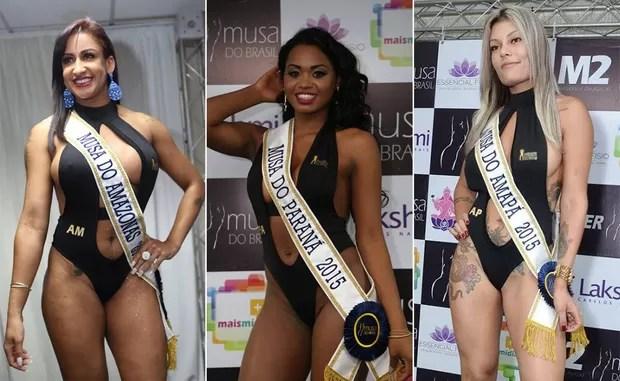 Candidatas Musa do Brasil: Bianca Rodrigues, Amazonas | Bruna Walker, Paraná | Cibelly Ferraty, Amapá (Foto: Divulga)