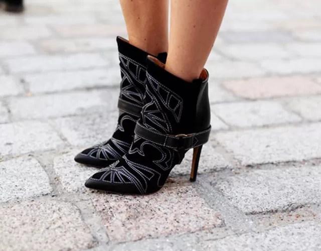 It-shoe da temporada: a Milwaukee boot by Isabel Marant, em clique de Tommy Tom na ultima London Fashion Week (Foto: Reprodução)