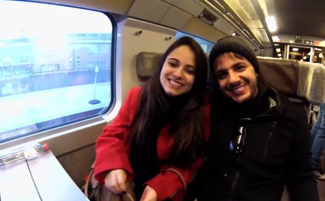 Cristiano Araújo e Allana Moraes morreram em acidente de carro na BR-153 (Foto: Reprodução/TV Anhanguera)
