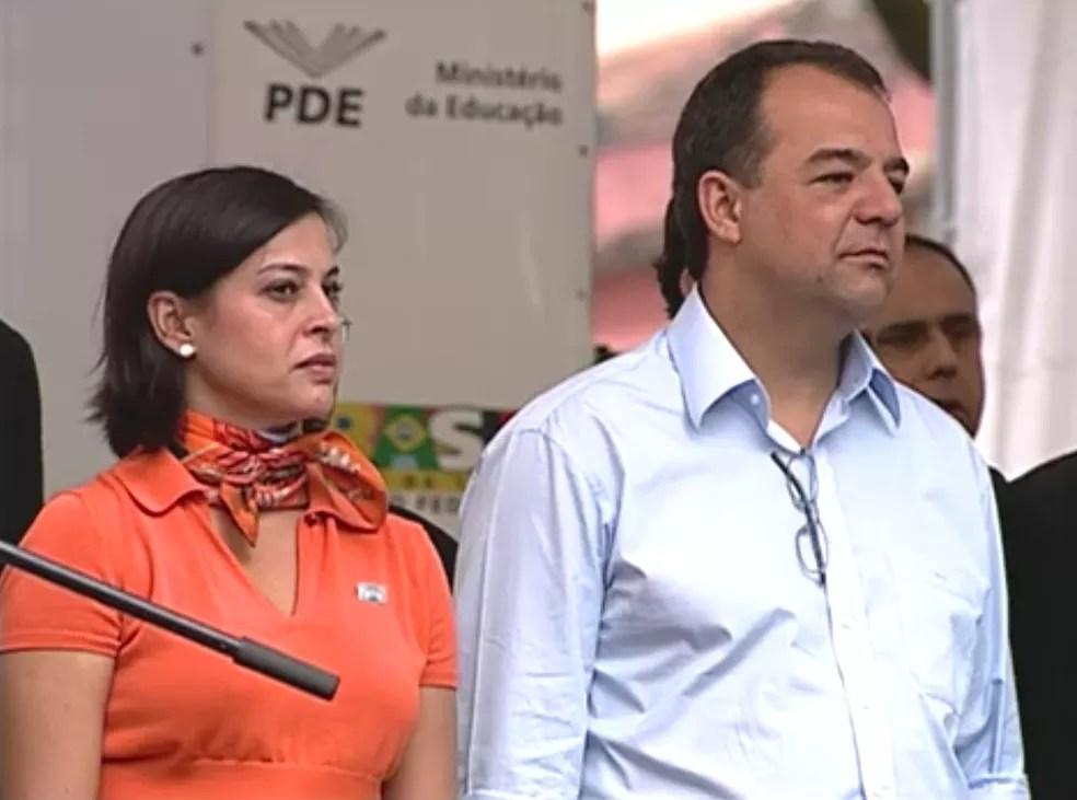 Adriana Ancelmo cumpre prisão domiciliar, em seu apartamento no Leblon; Cabral está preso em Bangu (Foto: Reprodução / TV Globo)