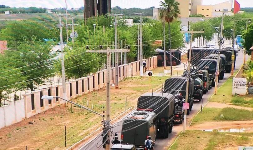 Militares do Exército devem ficar em Mossoró até o dia 27 — Foto: Inter TV Costa Branca