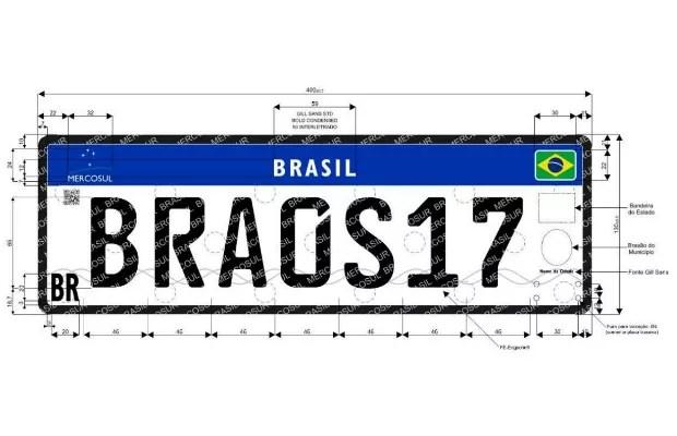 Placa no padrão Mercosul chega ao Rio de Janeiro (Foto: Divulgação)