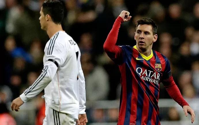 Messi barcelona cristiano Ronaldo real madrid (Foto: Agência AP)