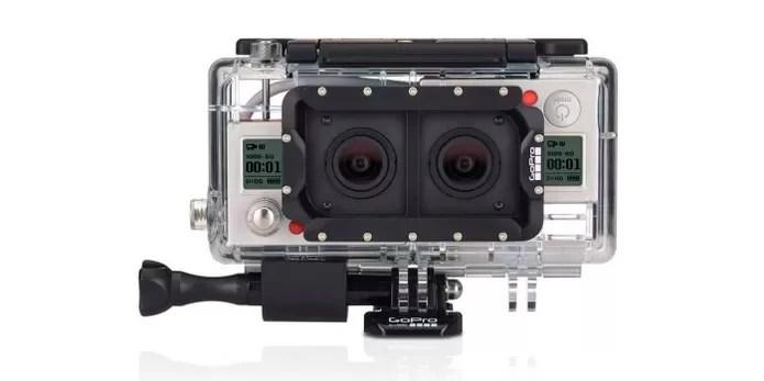 Case combina duas GoPro para dar efeito 3D nas filmagens (Foto: Divulgação/GoPro) (Foto: Case combina duas GoPro para dar efeito 3D nas filmagens (Foto: Divulgação/GoPro))